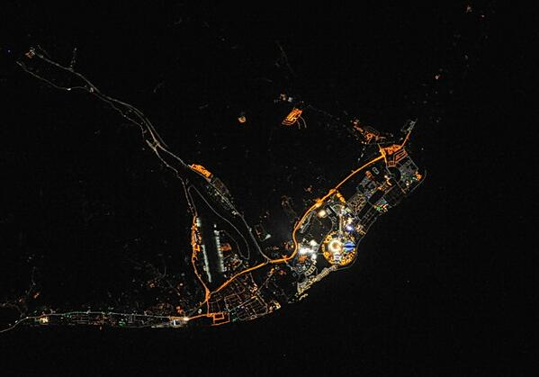 NASA опубликовало фотографии ночного Сочи во время Олимпийских игр 2014