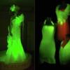 Шелкопряды с генами медуз научились делать флуоресцентный шелк
